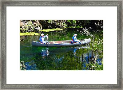 Two In A Canoe Framed Print by David Lee Thompson