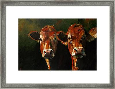 Two Limousins Framed Print by Cari Humphry