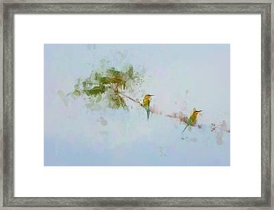 Two Little Birds Framed Print by Kamarulzaman Russali