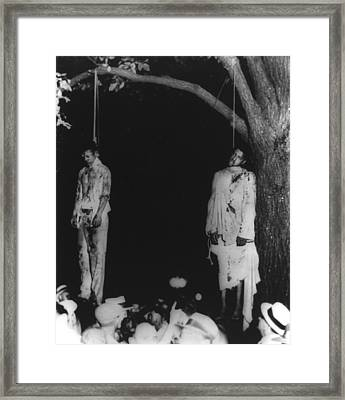 Two Lynched African American Men Framed Print by Everett