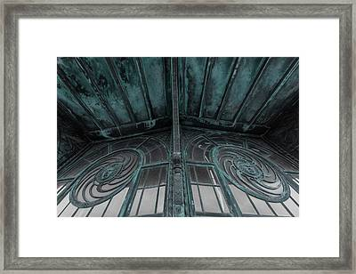 Two Medusa Windows Carousel House Asbury Park New Jersey Framed Print by Terry DeLuco