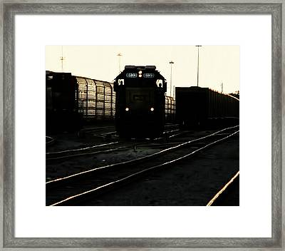 Two Men And 6132 Framed Print by Marvin Spates