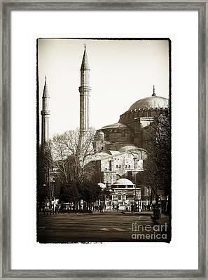 Two Minarets Framed Print by John Rizzuto