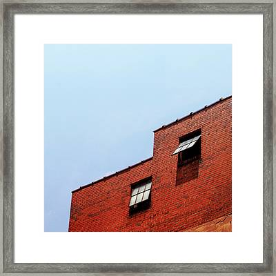 Two Open Windows- Nashville Photography By Linda Woods Framed Print by Linda Woods