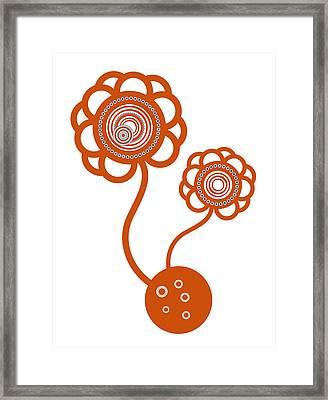 Two Orange Flowers Framed Print by Frank Tschakert