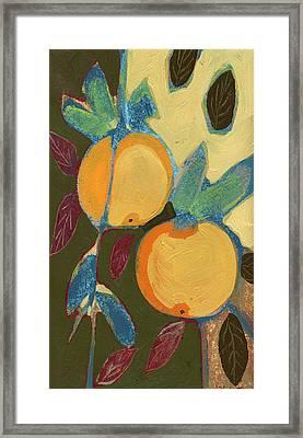 Two Oranges Framed Print by Jennifer Lommers
