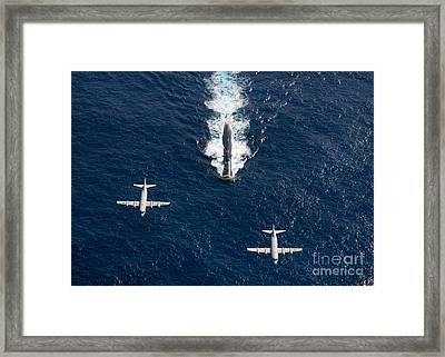 Two P-3 Orion Maritime Surveillance Framed Print by Stocktrek Images