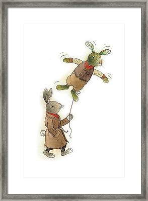 Two Rabbits 02 Framed Print by Kestutis Kasparavicius