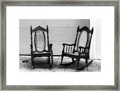 Two Rocking Chairs Framed Print by John Rizzuto