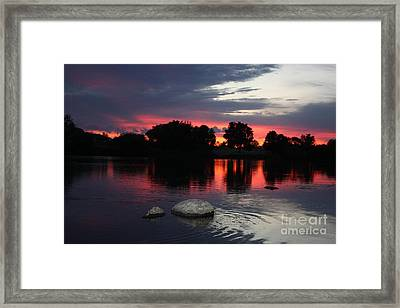 Two Rocks Sunset In Prosser Framed Print by Carol Groenen
