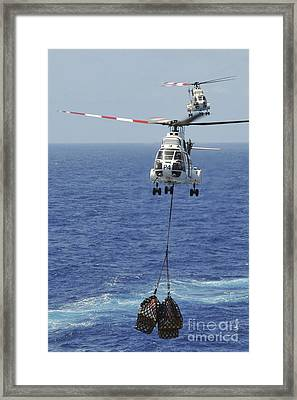 Two Sa-330 Puma Helicopters Deliver Framed Print by Stocktrek Images