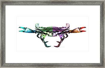 Two Sides - Duality Crab Art Framed Print by Sharon Cummings
