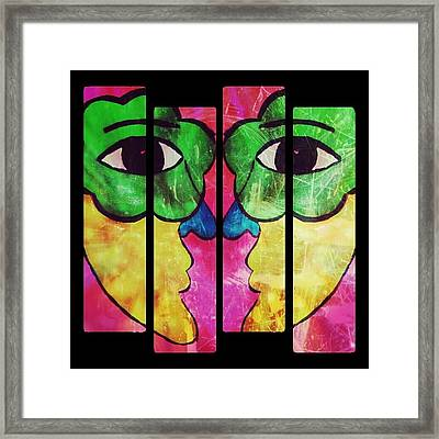 Two Sides To The Story Framed Print by Jessica Tolemy