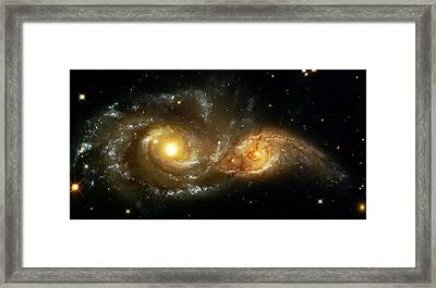 Two Spiral Galaxies Framed Print by The  Vault - Jennifer Rondinelli Reilly