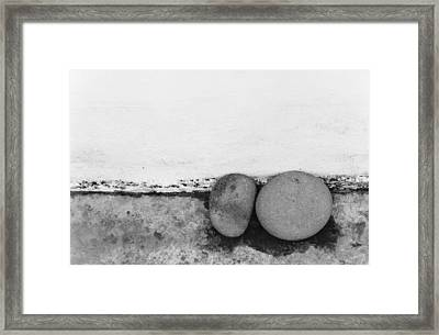 Two Stones - Sao Miguel - Azores Framed Print by Henry Krauzyk