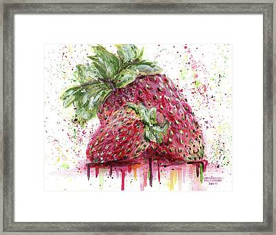 Two Strawberries Framed Print by Arleana Holtzmann