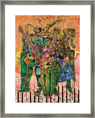 Two Street Sounds Framed Print by Larry Poncho Brown