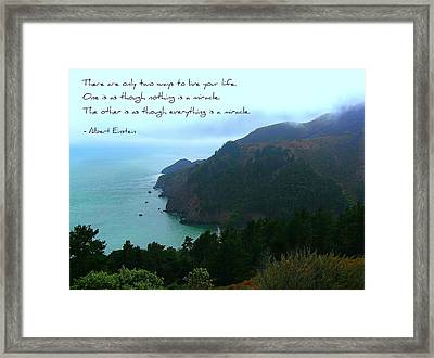 Two Ways Framed Print by Jen White