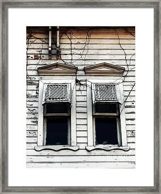 Two Windows Framed Print by John Rizzuto