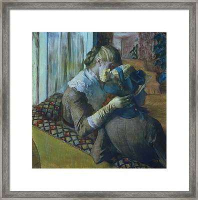Two Women Framed Print by Edgar Degas