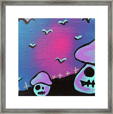 Two Zombie Mushrooms Framed Print by Jera Sky