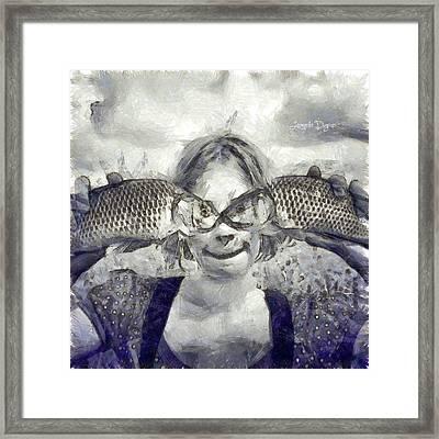 Twofish Framed Print by Leonardo Digenio
