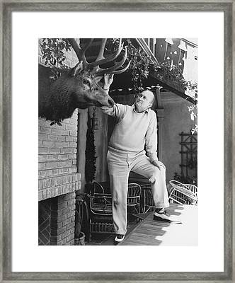 Ty Cobb At Home Framed Print by Underwood Archives