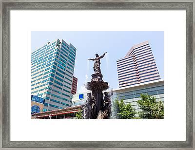 Tyler Davidson Fountain Cincinnati Ohio  Framed Print by Paul Velgos