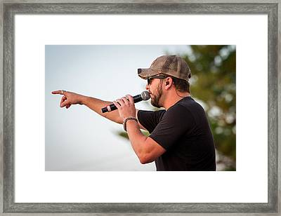 Tyler Farr Concert Framed Print by Mike Burgquist