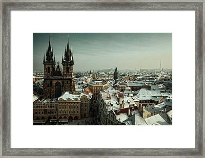 Tyn Church, Prague Framed Print by Erik T Witsoe