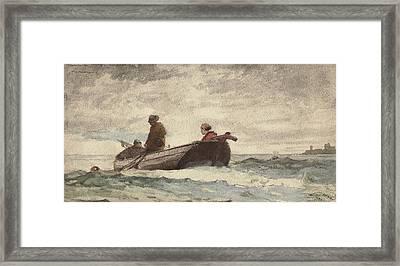 Tynemouth Priory Framed Print by Winslow Homer