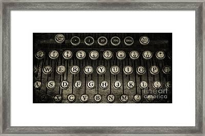 Typewriter Keys 2 Framed Print by Cindi Ressler