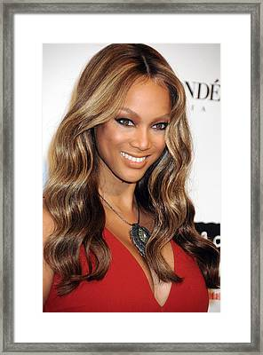 Tyra Banks At Arrivals For Keep A Child Framed Print by Everett