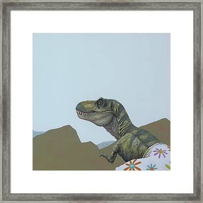 Tyranosaurus Rex Framed Print by Jasper Oostland