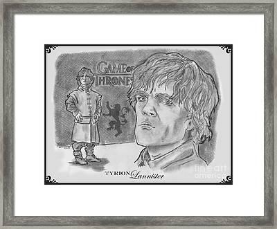Tyrion Lannister-  Framed Print by Chris  DelVecchio