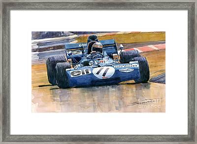 Tyrrell Ford 003 Jackie Stewart 1971 French Gp Framed Print by Yuriy  Shevchuk