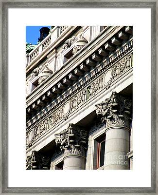 U S Custom House 2 Framed Print by Randall Weidner