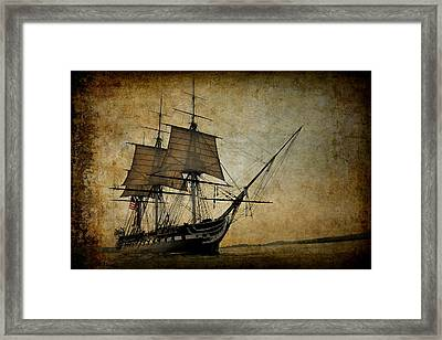 U S S Constitution Framed Print by Daniel Hagerman