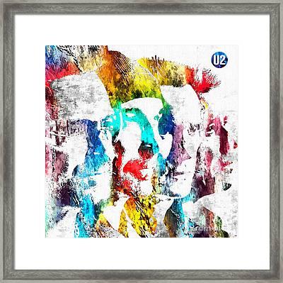 U2 Grunge Framed Print by Daniel Janda