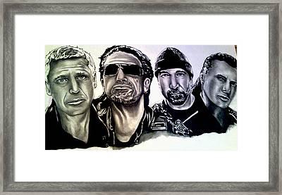 U2 Framed Print by Pauline Murphy