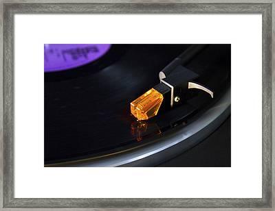 U2  Under A Blood Red Sky Vinyl Framed Print by Darren Burroughs