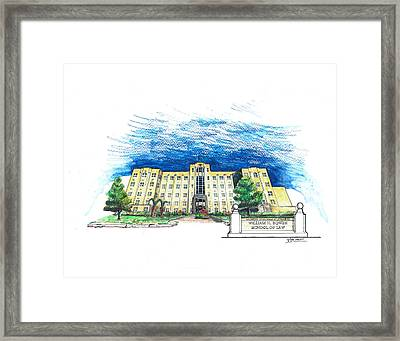 Ualr William H. Bowen School Of Law Framed Print by Yang Luo-Branch
