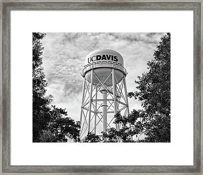 Uc Davis Water Tower Framed Print by Alessandra RC