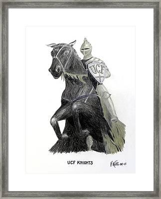 Ucf Knights Framed Print by Frederic Kohli