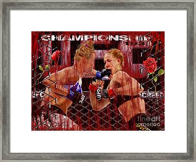 Ufc The New Soylent Green Framed Print by Reggie Duffie