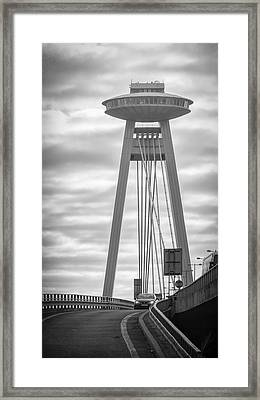 Ufo Landing Framed Print by Joan Carroll
