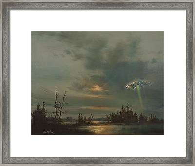 Ufo Northern Exposure Framed Print by Tom Shropshire