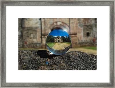 Ujarras Ruins In A Ball Framed Print by Ronnie Alfaro
