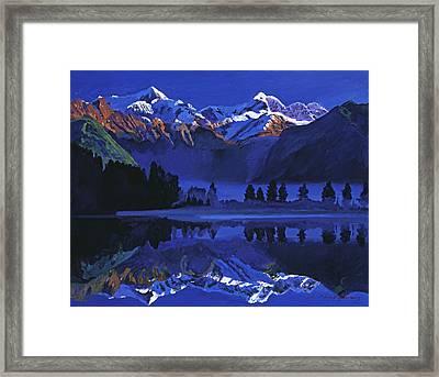 Ultimate Blue Framed Print by David Lloyd Glover
