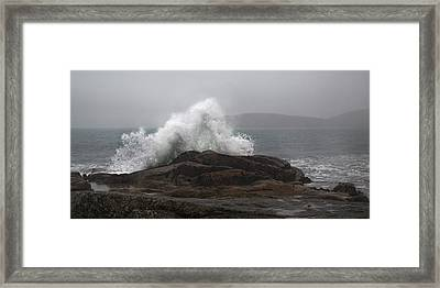 Ultimate Splash Cleggan Framed Print by Betsy C Knapp